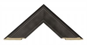 Curve Brushed Black Picture Frame